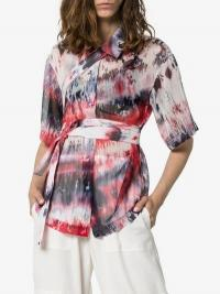 Asai Tie-Dye Crinkle Strap Shirt