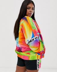 ASOS DESIGN x glaad& Curve track jacket – curvy fashion – multicoloured jackets