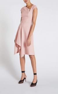ROLAND MOURET AUGUSTUS DRESS in PALE PINK ~ asymmetric dresses ~ contemporary clothing