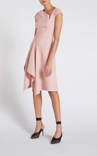 ROLAND MOURET AUGUSTUS DRESS in PALE PINK ~ asymmetric dresses ~ contemporary clothing