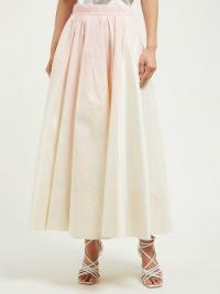 ROKSANDA Aylena pleated taffeta maxi skirt ~ subtle colours