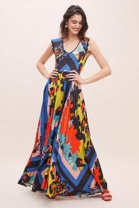SFIZIO Selina Abstract-Print Maxi Dress ASSORTED. LONG MIXED PRINT DRESSES