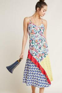 52 Conversations by Anthropologie Colloquial Bias Dress. PATCHWORK DRESSES