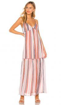JACK by BB Dakota Sailors Delight Maxi Dress in Rose Dawn | deep V-neck, thin strap summer dresses