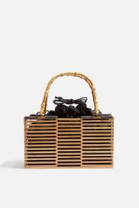 TOPSHOP BEAR Wooden Grab Bag in Natural