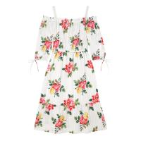 CATH KIDSTON BOX FLORA SPRAY OFF SHOULDER COTTON DRESS / cute floral summer dresses
