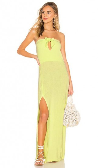 Cali Dreaming Obi Dress in Citrine | yellow bandeau maxi | summer holiday fashion