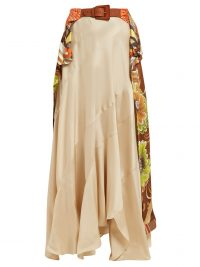 CHLOÉ Caravan-print silk sarong skirt | long floaty boho skirts