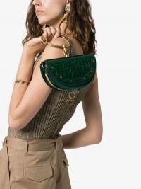 Chloé Green Nile Minaudière Crocodile Effect Leather Bag | small chic bags