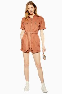TOPSHOP Coral Utility Belted Playsuit. UTILITARIAN FASHION