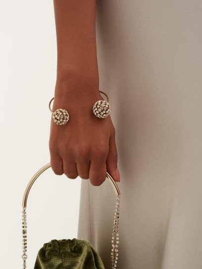 ROSANTICA BY MICHELA PANERO Crystal-embellished open bracelet ~ luxe style jewellery
