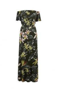 OASIS DELRAY MAXI DRESS / long floral bardot dresses