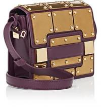 DELVAUX Madame Mini Leather Shoulder Bag in Prune | small luxe handbags