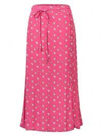 OLIVER BONAS Ditsy Pink Midi Skirt / small floral prints