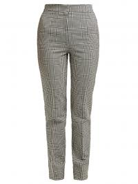 ERDEM Emanuelle checked silk-blend trousers