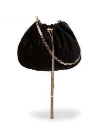 ROSANTICA BY MICHELA PANERO Fatale velvet shoulder bag in black ~ small luxe style pouch