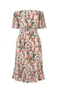 OASIS FLORAL BARDOT DRESS / odd the shoulder summer dresses