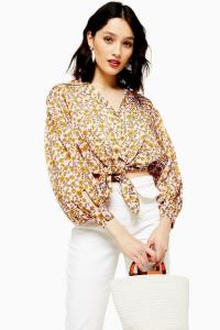 Topshop Floral Knot Front Shirt | vintage style ditsy prints