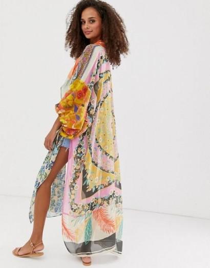 Free People Mixed Print Kimono / long floaty kimonos