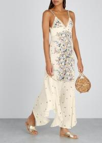 FREE PEOPLE Paradise floral-print maxi dress in Ivory / thin strap summer dresses