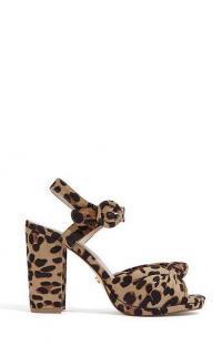 OASIS HOLLY PLATFORM HEEL IN ANIMAL / twist front platforms
