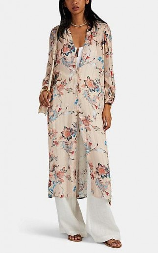 ICONS Floral Chiffon Caftan Dress in Pink ~ effortless summer style