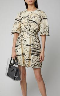 Proenza Schouler PSWL Ink Splash Printed Cotton-Voile Wrap-Effect Mini Dress ~ effortless summer style clothing