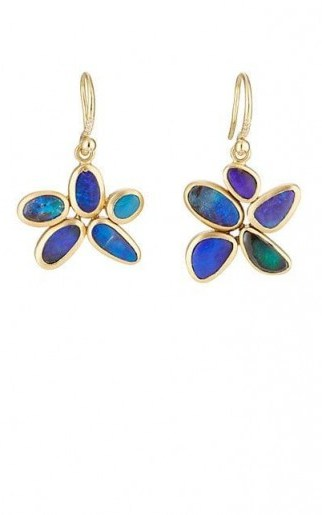 IRENE NEUWIRTH Boulder Opal Drop Earrings / floral drops - flipped