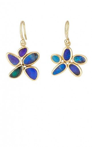 IRENE NEUWIRTH Boulder Opal Drop Earrings / floral drops