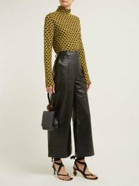DODO BAR OR Ivgenia high-waist wide-leg leather trousers in black ~ chic pants