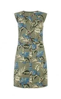 OASIS JASMINE SHIFT DRESS MULTI GREEN / sleeveless floral dresses