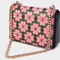 KATE SPADE NEW YORK – AMELIA SPADE FLOWER SMALL SHOULDER BAG in BRIGHT PINK MULTI