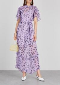 KEEPSAKE Daybreak lilac chiffon dress / romantic fashion