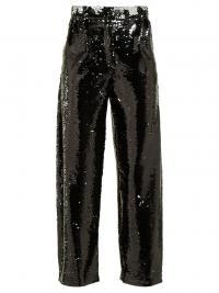 BLAZÉ MILANO Kelpie sequinned tailored trousers / black sparkly pants