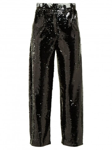 BLAZÉ MILANO Kelpie sequinned tailored trousers / black sparkly pants