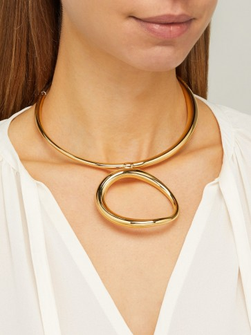 CHARLOTTE CHESNAIS Koi gold-vermeil necklace ~ contemporary accessory