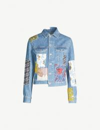 LOEWE Loewe x Paula's Ibiza patchwork denim jacket in indigo