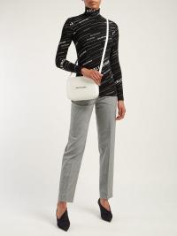 BALENCIAGA Logo-stripe high-neck top | Matches Fashion