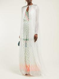 TEMPERLEY LONDON Lullaby silk-chiffon coat in white ~ sheer floaty coats