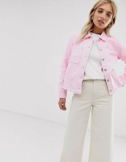 Mads Norgaard Fresh Denim Organic Jacket in hot rose – pink jackets