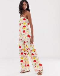 Mango cami jumpsuit in floral print / strappy summer jumpsuits