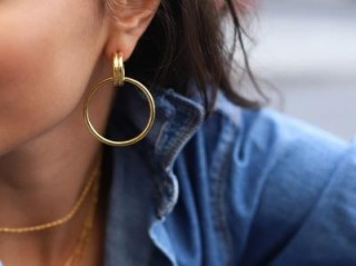 Missoma ANCIEN CHANDELIER HOOPS 18ct Gold Plated / contemporary look earrings