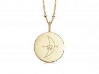 MISSOMA TAKE ME TO THE MOON NECKLACE 18ct Gold Vermeil / engraved pendant necklaces - flipped