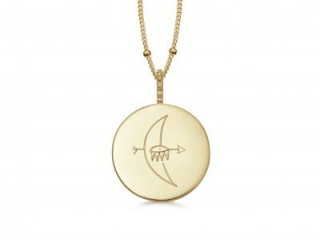 MISSOMA TAKE ME TO THE MOON NECKLACE 18ct Gold Vermeil / engraved pendant necklaces