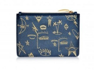 MISSOMA COSMIC GRAFFITI POUCH Vegan Leather / blue embroidered pouches - flipped