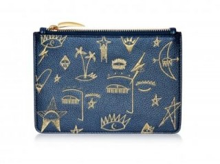 MISSOMA COSMIC GRAFFITI POUCH Vegan Leather / blue embroidered pouches