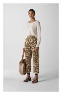 WHISTLES Leopard High Waist Barrel Leg Jeans ~ animal print denim
