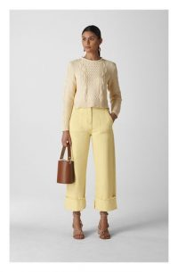 WHISTLES Fray Hem Turn Up Jean in Yellow ~ spring and summer denim