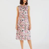 PAINTED DAISY COTTON SLEEVELESS DRESS | Cath Kidston | This Painted Daisy dress has a classic sleeveless cut and sophisticated midi length, with a fitted bodice and waist and softly pleated skirt. The fresh floral print is perfect for summer, and it's cut from crisp cotton