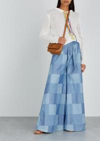 PAPER LONDON Blue patchwork denim trousers ~ wide leg pants
